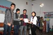 Receiving certificate of Appreciation